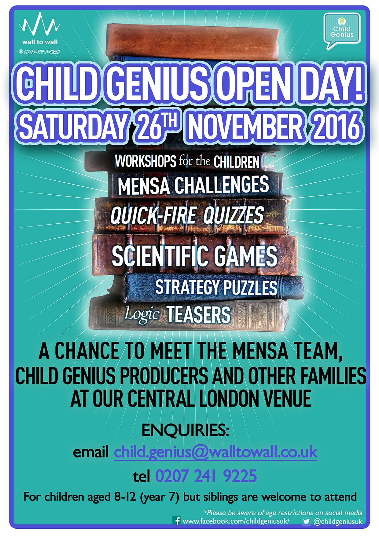 Child genius tv show holds open day for gifted children kids ch5 open day poster 2016 bp geenschuldenfo Choice Image